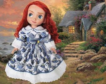 Disney Animator doll clothes /  Disney princess dress / Disney 15 in toddler doll / Disney Store doll / Disney Park doll