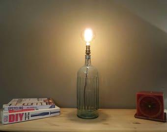 Vintage poison bottle lamp