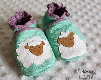 """soft leather booties """"sheep"""""""