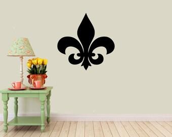 Fleur Di Lis Vinyl Wall  DECAL- home and business decor