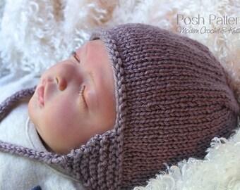 Knitting PATTERN - Earflap Hat Knitting Pattern - Knitting Patterns - Knitting Pattern Hat - Baby, Toddler, Kids, Adult Sizes - PDF 377