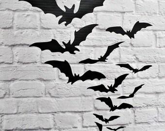Halloween Bats Vinyl Wall Decal