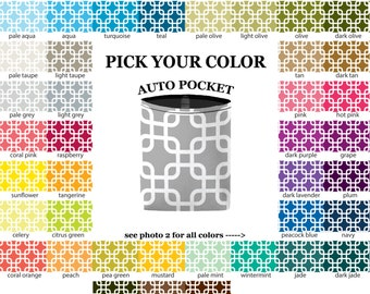 Auto Pocket - Chain Link - PICK YOUR COLOR - Car Accessory Automobile Caddy