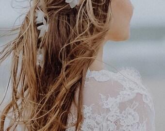 Wedding flower headband Gabrielle
