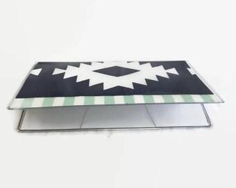 Checkbook Cover, Vinyl Checkbook Cover, Boho Checkbook cover, Checkbook Holder, Tribal, Duplicate Checkbook Cover