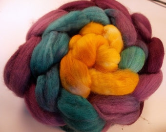 The Editor 5.875 oz Handpainted Polwarth Spinning Fiber