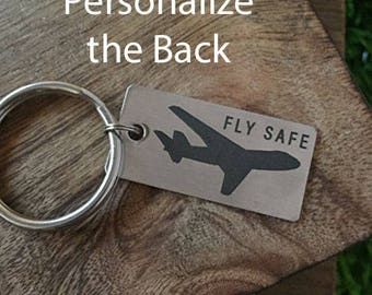 Pilot Keychain Gift For Pilot Favorite Pilot Keychain Airplane Gift Fly High Birthday Christmas Gift for Pilot Gift Birthday Chase Dreams