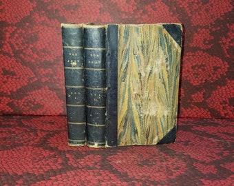 Don Juan by Lord Byron - Antique Books from 1828 - Early printing of the famed Epic Poem bound in 3/4 Leather