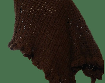 Poncho Acrylic  one size fits most small to large hand crocheted ladies Poncho