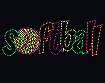 Adult Softball neon rhinestud tee a10855d