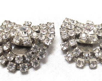 Tiny Rhinestone Shoe Clips for Sandals Dress Shoes
