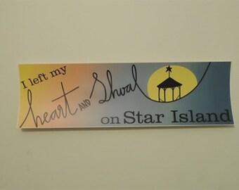 Heart and Shoal Bumper Sticker