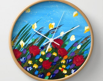 analog clock, analog clocks, gifts for mom, present for mom, presents for moms, gifts for mom, gift for sister, happy prints, wall art,
