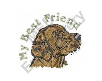 Dog - Machine Embroidery Design, Labrador Retriever, My Best Friend