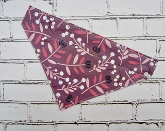 Plum Slip-On Bandana for Dogs
