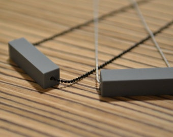 Contemporary minimal silicone rectangle necklace