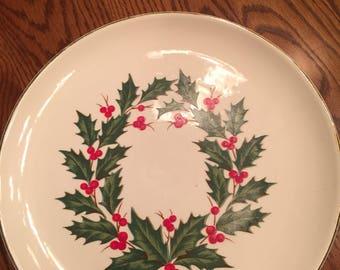 Christmas Holly Dinner Plates set of four