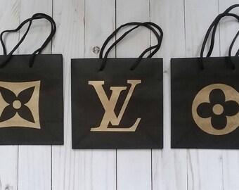 Designer Inspired LV Gift Bags Set of 3