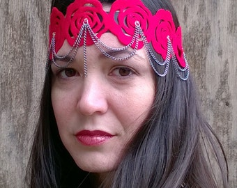 Roses and Chains 20s Headband