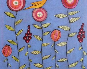 Yellow Bird Art Print, Large Poster Print, Large Art Print, Home Decor