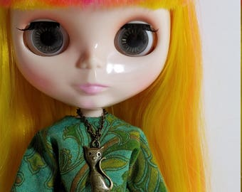 Blythe Doll Retro Kitty Necklace