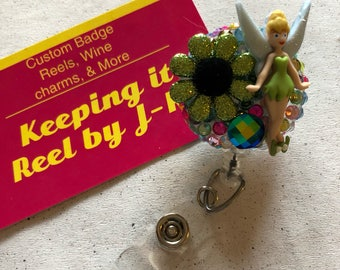 Cute Tinkerbell fairy themed badge reel