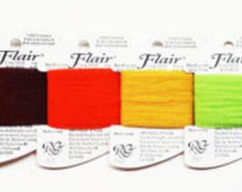 Flair Thread 2.25 Each, Rainbow Gallery Flair Thread, Flair Yarn, Unusual Needlework Threads, Novelty Needlepoint Yarns, Flair Netting Yarn