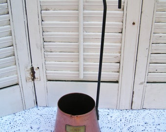 Vintage Copper Cider Dipper with Patina Country Kitchen Decor Copper Cider Ladle