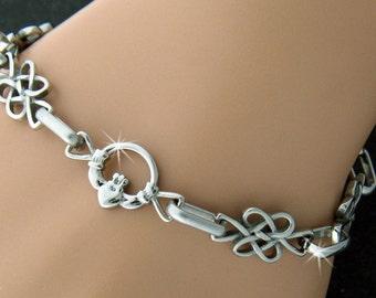 Claddagh Infinity Love Knot Bracelet ( S104)