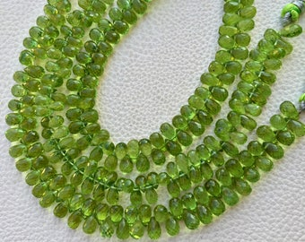 Brand New,Superb Natural PERIDOT,AAA, Wholesale Price Offer,Full 7 inch Long Strand, 7-8mm