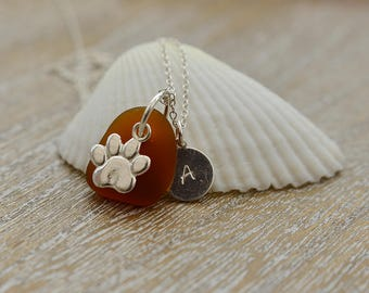 Personalized Pet Memorial Jewelry, Personalized Pet Loss Gifts, Loss Of Pet Jewelry, Pet Remembrance Jewelry, Seaglass Jewelry, Dog Loss