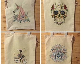 Handmade Library Bags