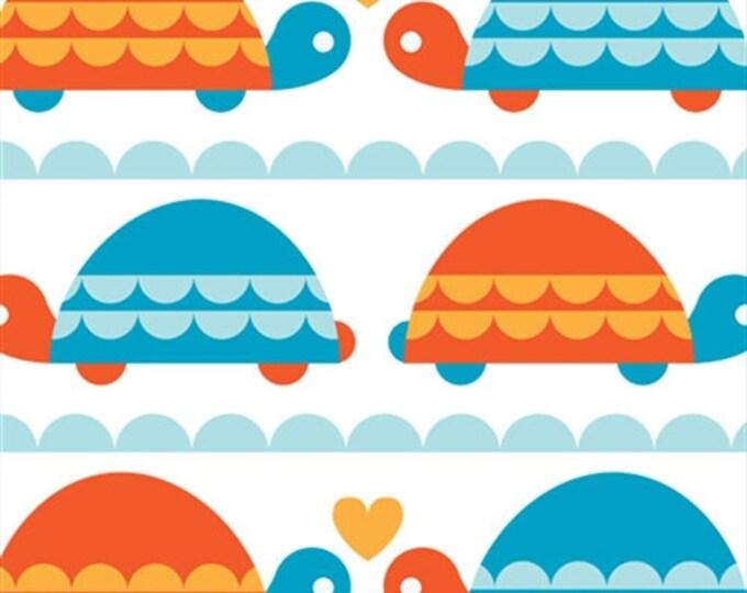 Organic Cotton Fabric - Birch Marine Too Turtle Love