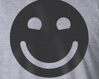 Smiley Face, Screen Printed Shirt, Smiley Face Shirt, Smiley Shirt, Smile Shirt, Happy Shirt, Be Happy Shirt, Happy, Be Happy, Noa Design Co