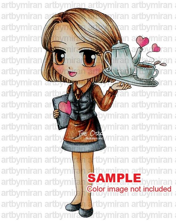 Digital Stamp Love In A Cup152 Digi Coloring