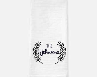 Personalzied tea towel