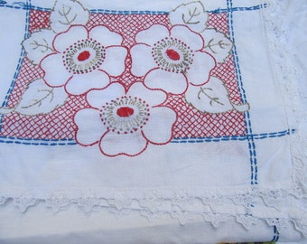 Vintage Embroidered Dresser/Table Runners