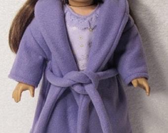 18 Inch Doll Purple Fleece Robe