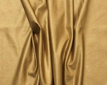 Metallic Gold Matte Faux Vegan Leather Fabric **UK Seller**
