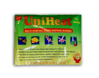 UniHeat-brand 72 Hour Heating Pack for Tillandisa and Marimo