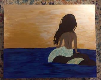 Mermaid Painting on gessobord