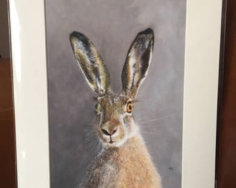 HARE giclee signed print of my original oil painting