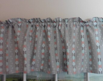 Navajo Print Window Valance ~ 64 Inches Wide