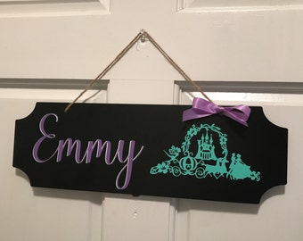 Kids door sign - kids bedroom door sign - chalkboard sign - childrens room sign - welcome door sign