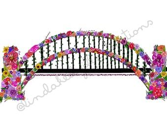 Sydney Harbour Bridge floral