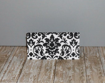 Checkbook Cover - Damask