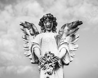 Cemetery Angel  - New Orleans Fine Art Photography - New Orleans Home Decor
