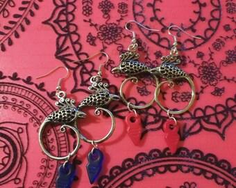 Tribal ear pendants with mini tanfouks