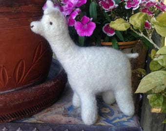 Llama Toy Natural Stuffed Animal  Eco Friendly Kids Toy Farm Barnyard Plush