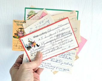 Vintage Recipe Cards / Lot of 25 / Vintage Ephemera